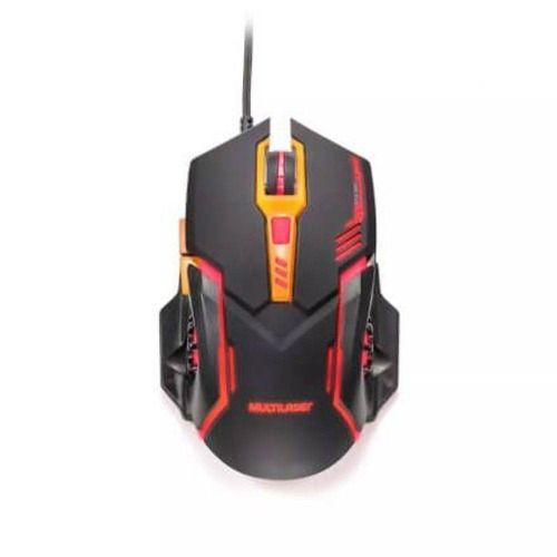 Mouse Gamer Multilaser Mo270 2400dpi 7 Botões