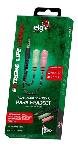 Adaptador De Áudio Para Headset P2/p3 ELG