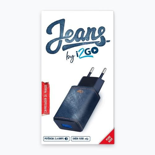 Carregador De Parede Jeans 2.4 Amps By I2go