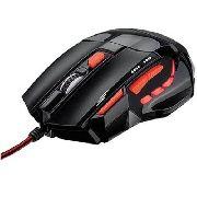Mouse Usb Gamer 2400dpi Preto/ Vermelho Mo236 Multilaser
