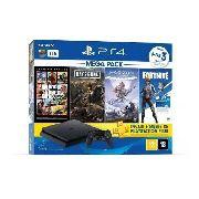 Console Playstation 4 1tb Bundle Hits 6 + Controle Dualshock 4 + 3 jogos