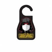 Aviso de Porta Máscara Vader