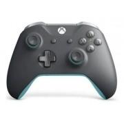 Controle Xbox One S Grooby Cinza E Azul P2 Microsoft