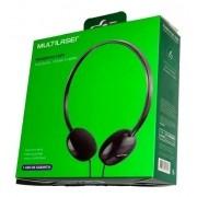 Fone De Ouvido Multilaser Headphone P2 Preto - Ph063