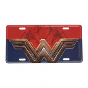 Placa Carro Decorativa Wonder Woman