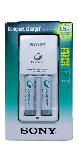Carregador De Pilhas Sony Com 2 Pilhas AA Nimh Recarregáveis