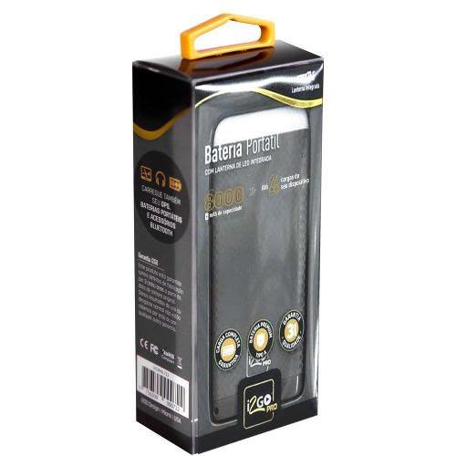 Bateria Portátil 8000mah Pro I2go