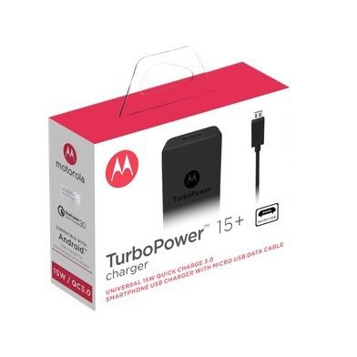 Carregador Turbo Power 3.0 Micro Usb Motorola