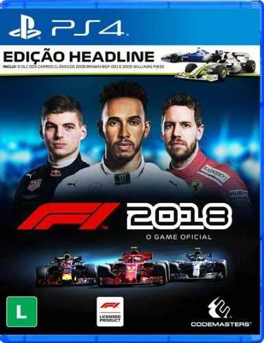Fórmula 1 2018 (edição Headline) - Ps4  Seminovo