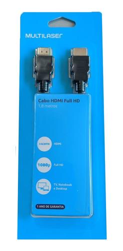 Cabo Hdmi Multilaser-1.8 Metros-Versão 1.4-4K Wi233