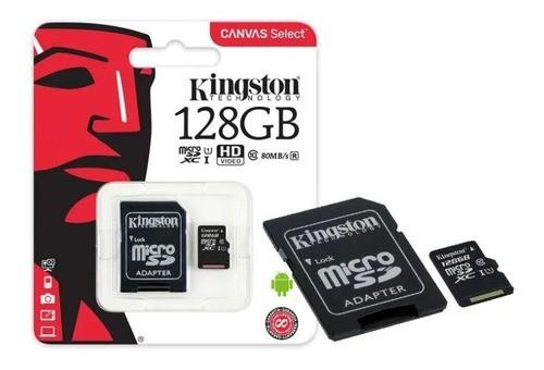 Cartão De Memória Kingston 128gb Canvas Select Com Adaptador