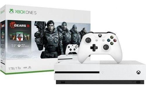 Console Xbox One S 1tb + Controle + Gears V e Coleção Gears