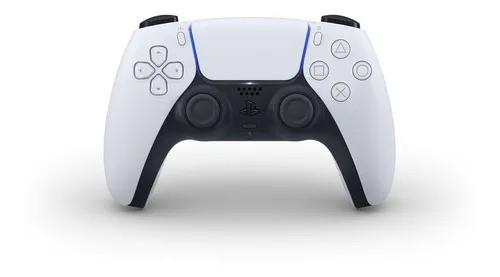 Controle Sony Dualsense, Branco, Sem Fio - Ps5
