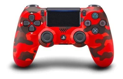Controle Sony Dualshock 4 - Camuflado Vermelho