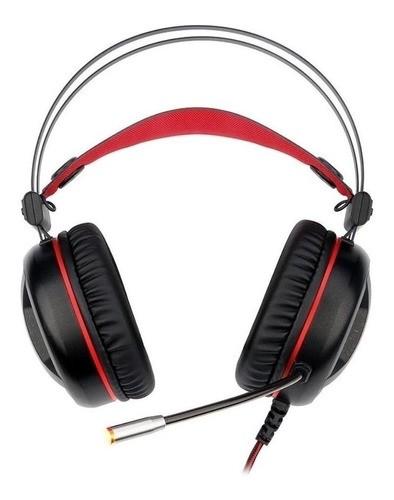 Fone De Ouvido Headset Gamer Redragon Minos H210 Preto E Vermelho Com Luz Led