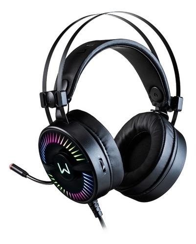 Headset Gamer Warrior Ph306 Flamma Usb 2.0 Preto Com Led