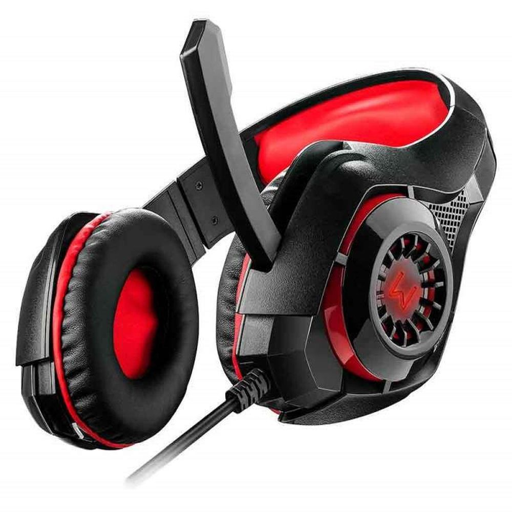 Headset Gamer Warrior Rama P3+USB Stereo Adaptador P2 LED Vermelho - PH219