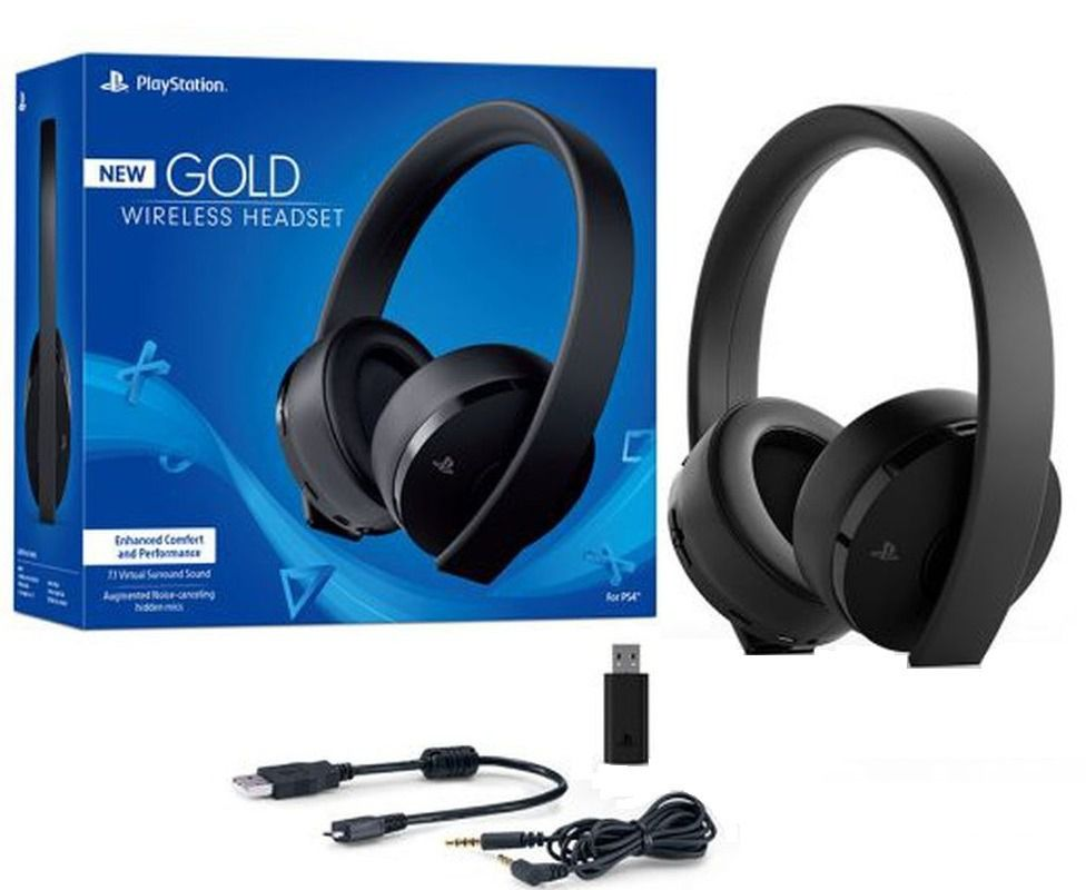 Headset Gold Wireless Stereo 7.1