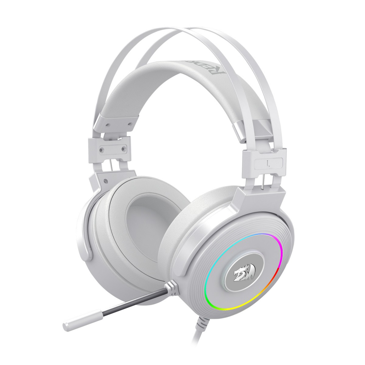 Headset Redragon Lamia 2 Branco Lunar White RGB Surround 7.1 H320W-RGB