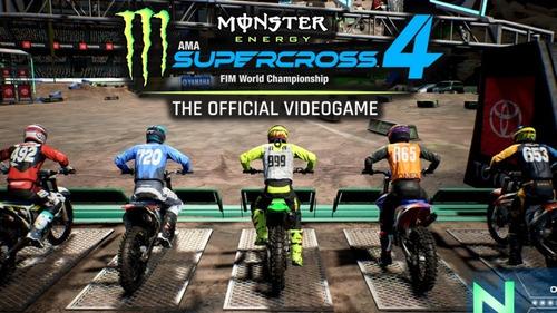 Jogo Supercross 4 Monster Energy  Ps4