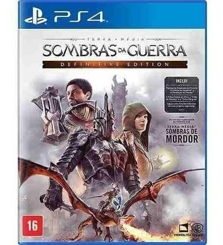 Jogo Sombras Da Guerra Definitive Edition PS4