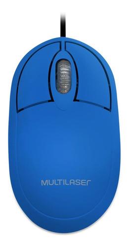 Mouse Optico Usb Classic Box Full Azul 1200dpi MO305