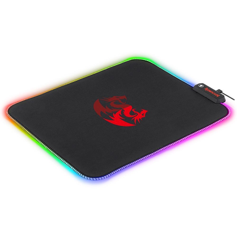 Mousepad Gamer Redragon Pluto RGB Grande (330x260mm) - P026