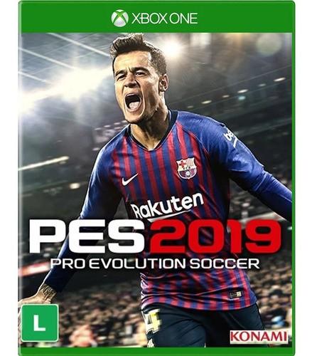 Pes 19 Xbox One Mídia Física Semi Novo