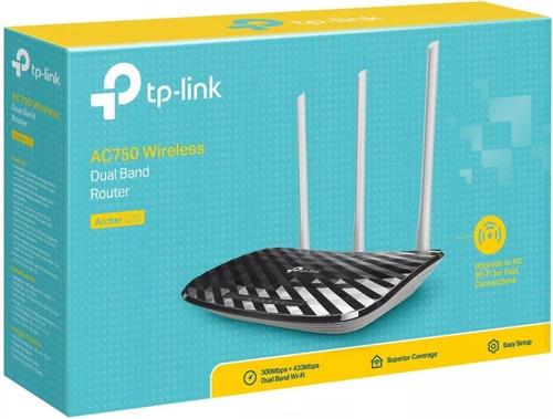 Roteador Dual-band Archer C20 Ac750 3 Antenas V4 Tp-link