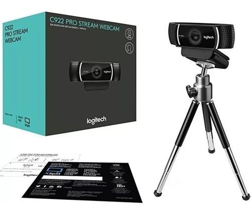 Webcam C922 Pro Stream Logitech Hd Pro 1080p C/ Tripé
