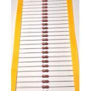 Resistor Filme de Carbono CR50S 1/2WS 5% Valores 1M0 Até 9M1 Caixa com 5000 Peças