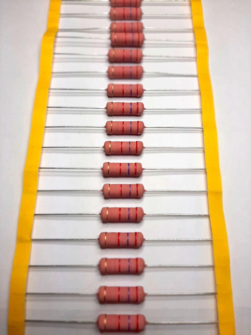 Resistor Óxido Metálico 5WS 5% Valores 1K0 Até 120K Caixa com 500 Peças