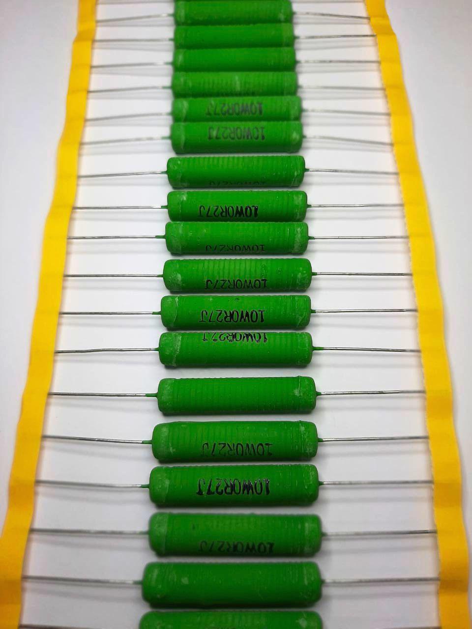 Resistores de Fio 10WS 5% Valores 1R0 Até 820R Caixa com 300 Peças