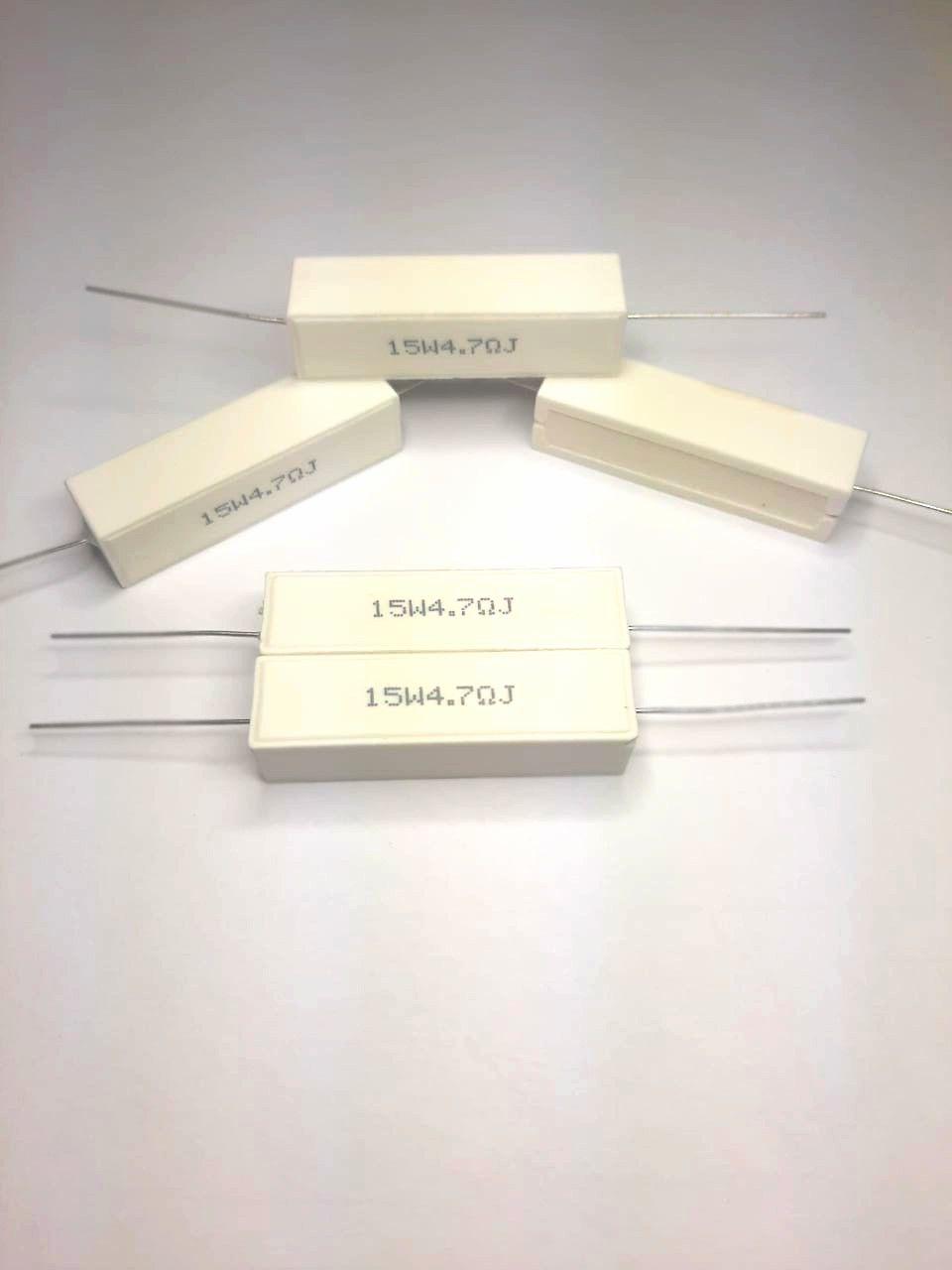 Resistores de Fio 15W 5% Porcelana SQP Valores 1R0 Até 470R Caixa com 50 Peças