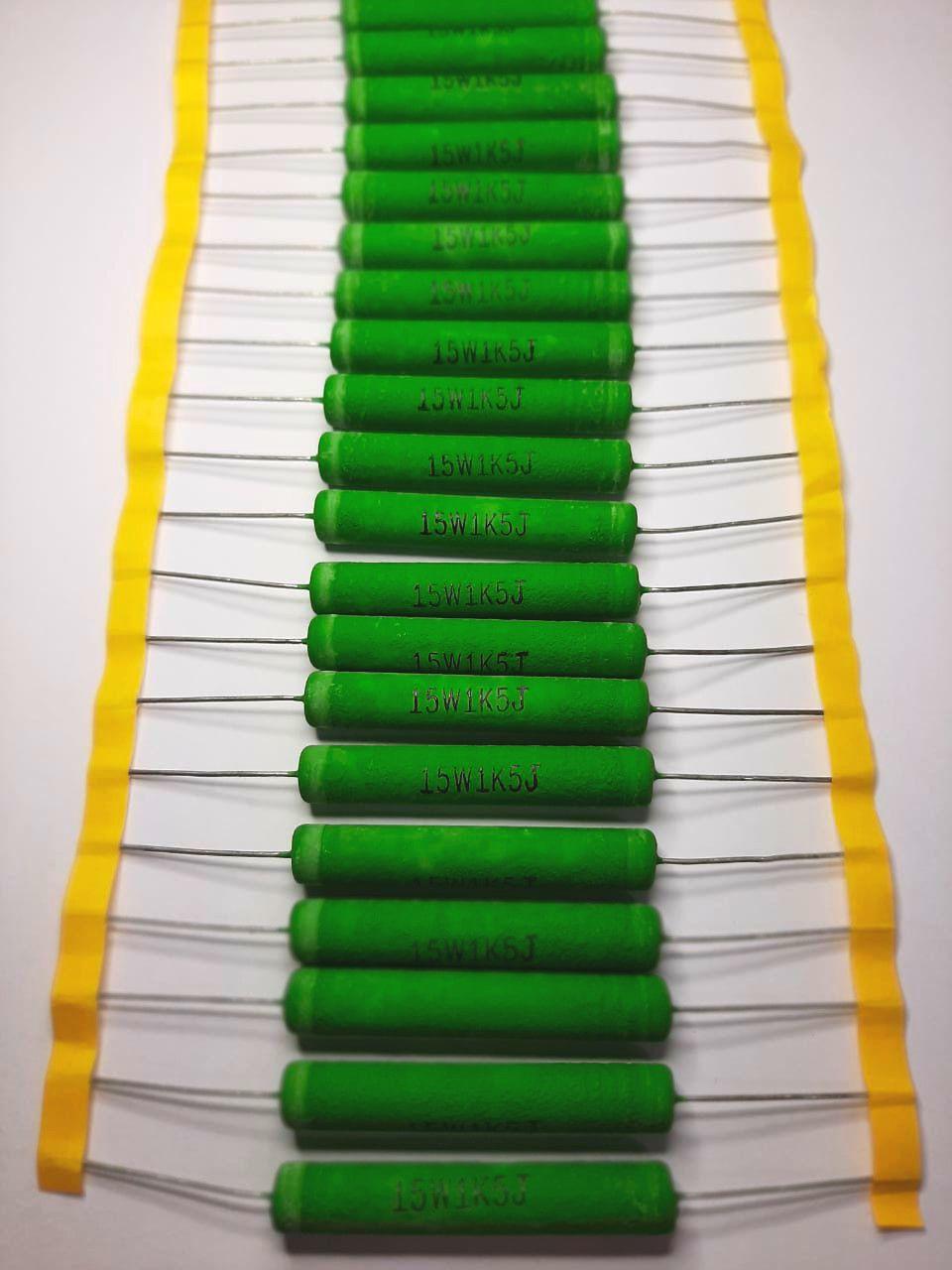 Resistores de Fio 15WS 5% Valores 1K0 Até 2K2 Caixa com 200 Peças