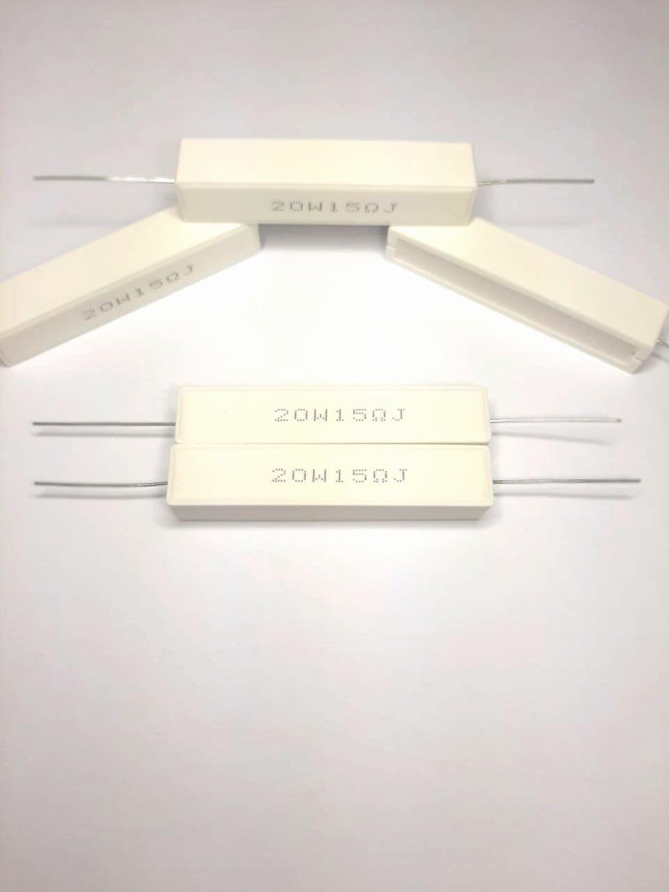 Resistores de Fio 20W 5% Porcelana SQP Valores 1K0 Até 22K Caixa com 50 Peças