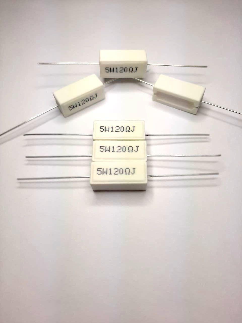 Resistores de Fio 5W 5% Porcelana SQP Valores 1R0 Até 910R Caixa com 100 Peças