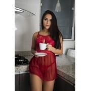 Camisola Sexy Tulle e Renda 3636