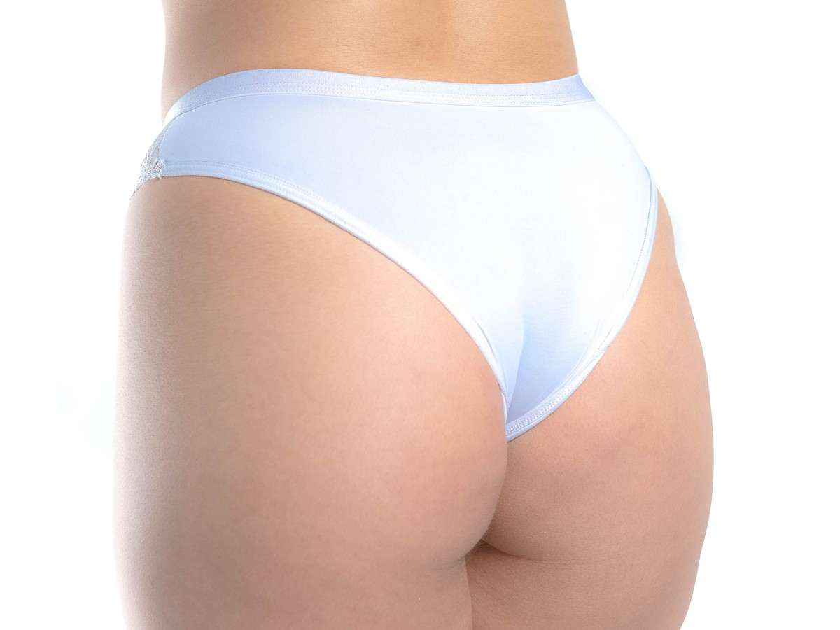 Kit 6 calcinhas microfibra e renda elástico especial cintura cores variadas -3188