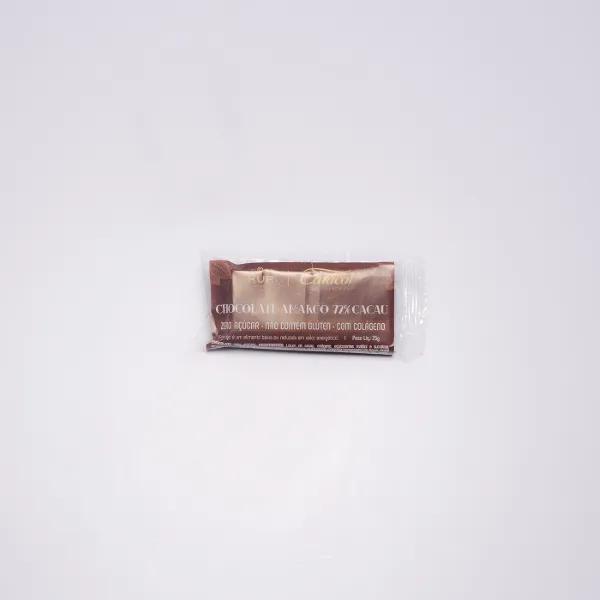 CHOCOLATE EM BARRA LINHA VITA 72% CACAU - 25G  - Kur Cosméticos e Bem Estar