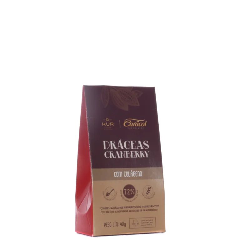 DRAGEAS SABOR CRANBERRY - 40G