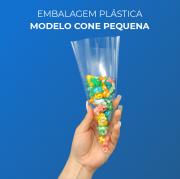 Embalagem Plásticas Modelo Cone Pequena - 300 Unidades