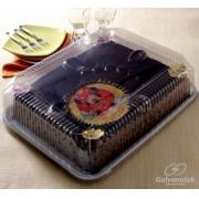 Embalagem para bolos quadradas com tampa - Caixa 40und