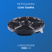 Petisqueira 1100 ml Com Tampa
