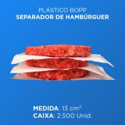 Plástico BOPP Separador de Hambúrguer