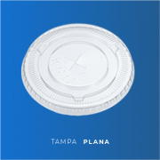 Tampa Plana  - Pacote 50 Unidades
