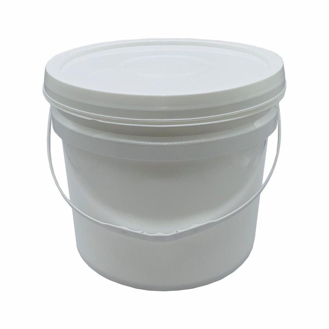 Balde 10 litros branco com alça - Fardo 10und