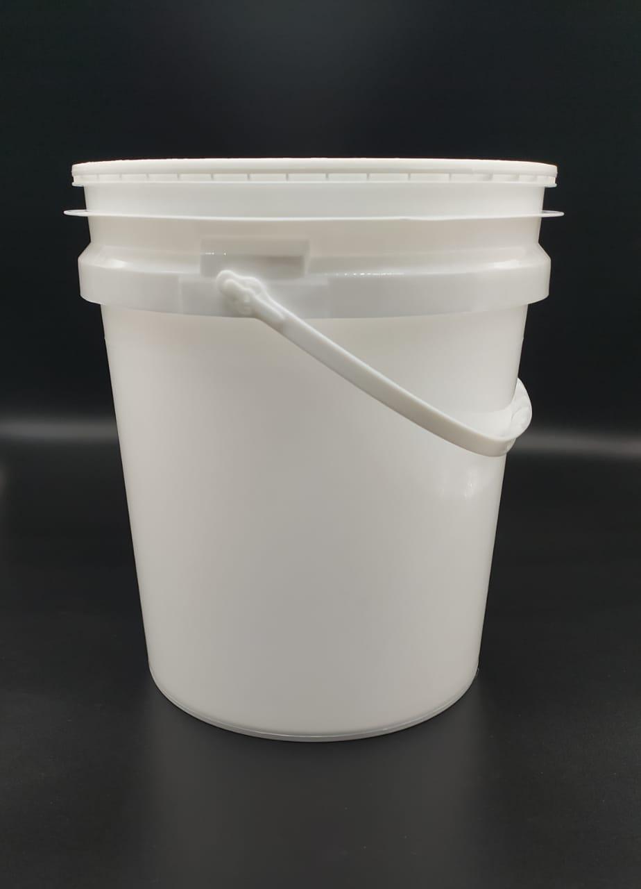 Balde 5 litros branco com alça - Fardo 10und