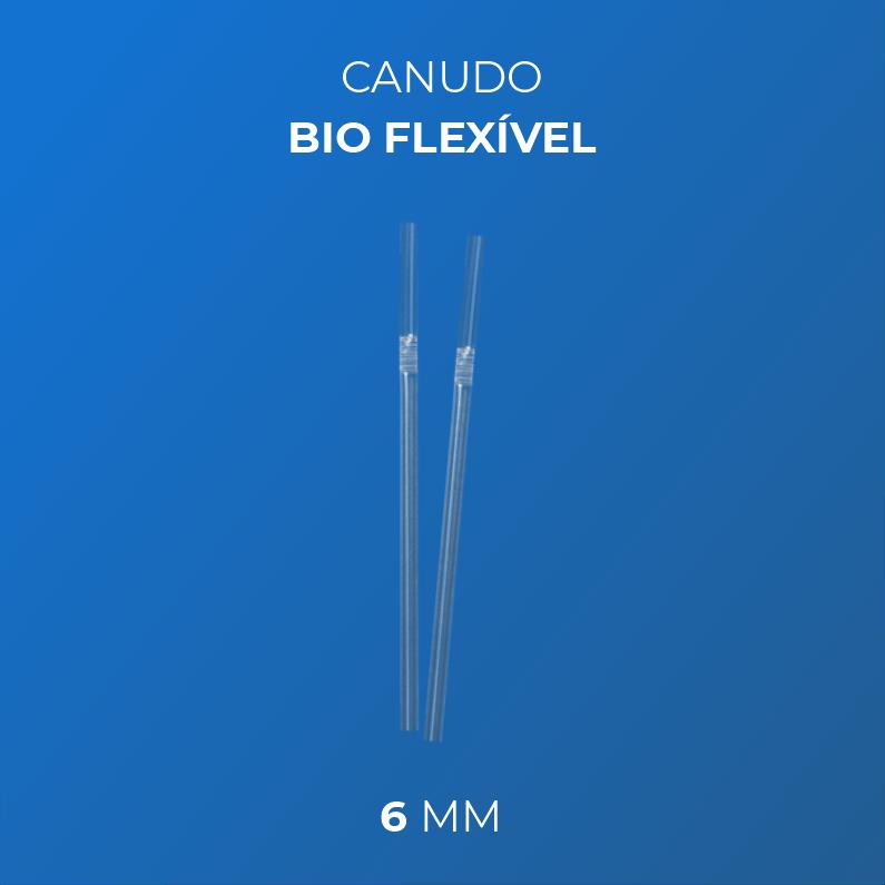 Canudo  Bio flexível  6 mm - Caixa 3000und