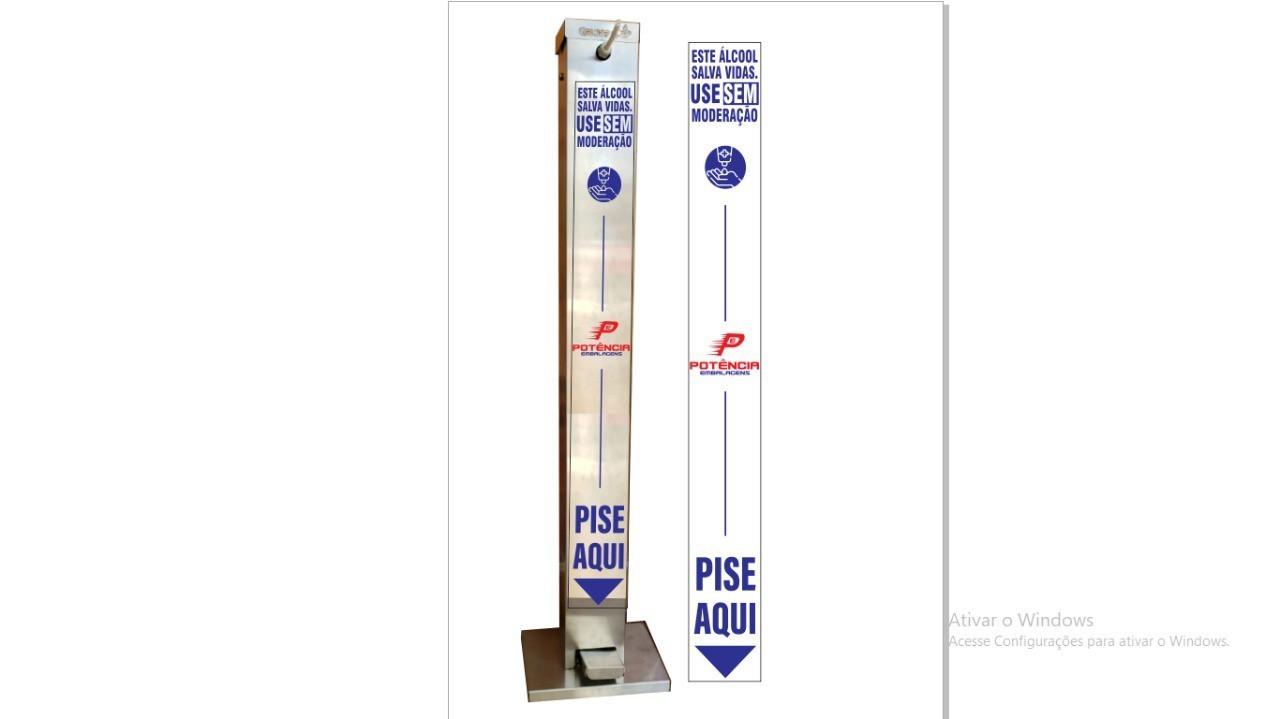 Dispenser Vertical Para álcool gel